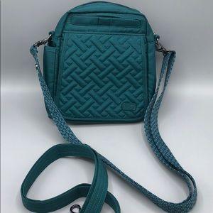 Lug Flapper Purse Blue Teal Green Crossbody Bag